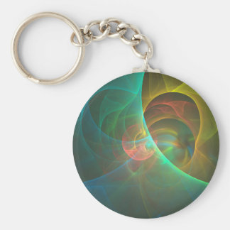 Multicolored abstract fractal keychain