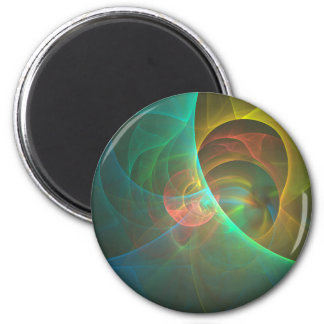 Multicolored abstract fractal magnet