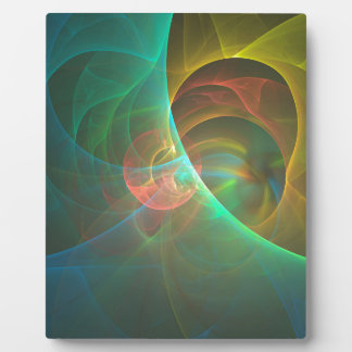 Multicolored abstract fractal plaque