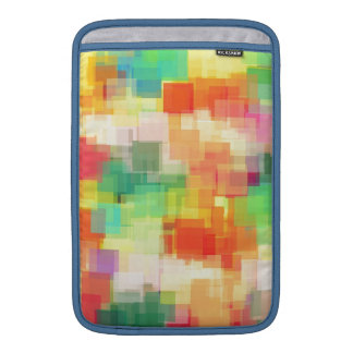 Multicolored Abstract Geometric Pattern MacBook Sleeve