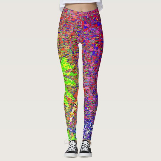 MULTICOLORED ABSTRACT LEGGINGS
