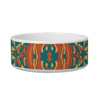 Multicolored Abstract Ornate Pattern Bowl