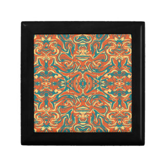 Multicolored Abstract Ornate Pattern Gift Box