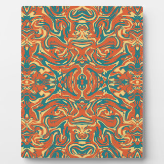 Multicolored Abstract Ornate Pattern Plaque
