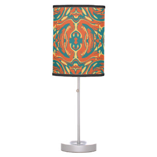 Multicolored Abstract Ornate Pattern Table Lamp