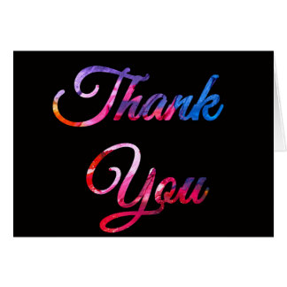 Multicolored abstract paint thank you card