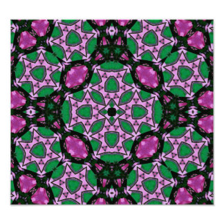 Multicolored Abstract Pattern Photo Art