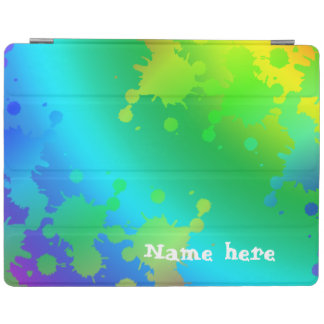 Multicolored and colorful color splash iPad cover