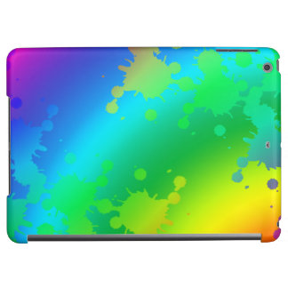 Multicolored and colorful color splash iPad air case