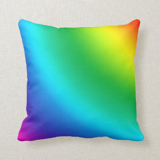 Multicolored and colorful color splash throw pillow