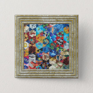 MultiColored Arts Pattern 2 Inch Square Button