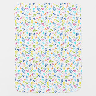 Multicolored Assorted Leaves Small Pattern Receiving Blanket
