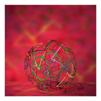 Multicolored ball poster