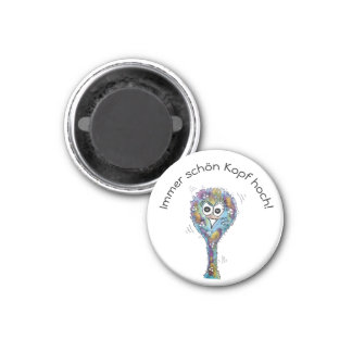 Multicolored bird bunch with saying 1 inch round magnet