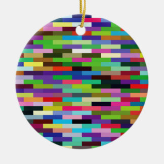 multicolored bricks ceramic ornament