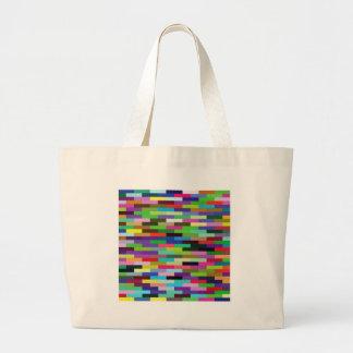 multicolored bricks large tote bag