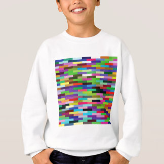 multicolored bricks sweatshirt