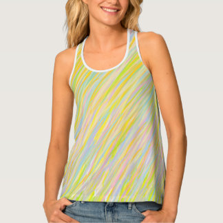 Multicolored Brushstroke Tank Top