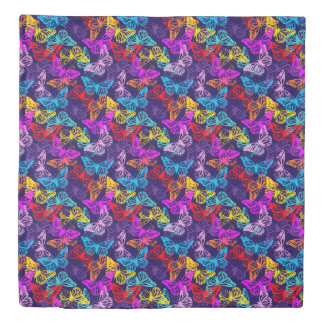 Multicolored Butterflies Pattern Duvet Cover