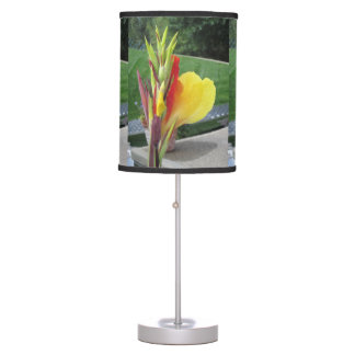 Multicolored Cannas Table Lamp