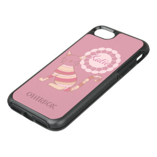 Multicolored Cat Silhouette Personalized OtterBox Symmetry iPhone 8/7 Case