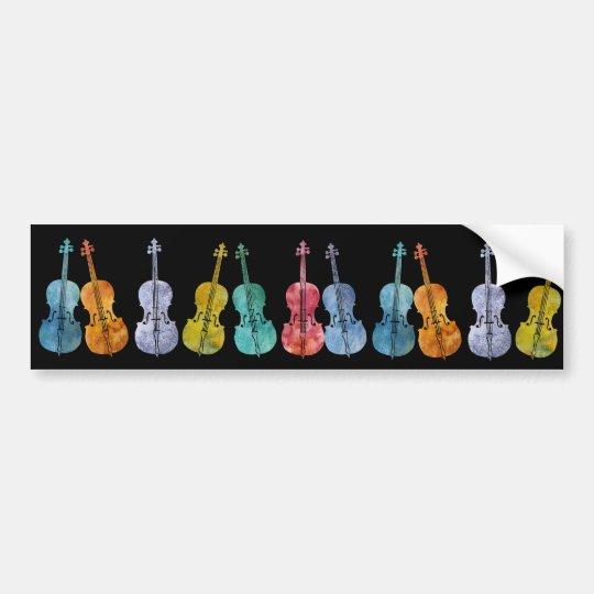 Multicolored Cellos Bumper Sticker