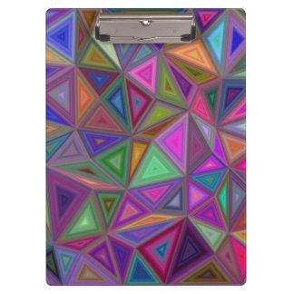 Multicolored chaotic triangles clipboards