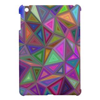 Multicolored chaotic triangles iPad mini case