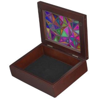 Multicolored chaotic triangles keepsake box