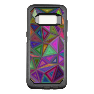 Multicolored chaotic triangles OtterBox commuter samsung galaxy s8 case