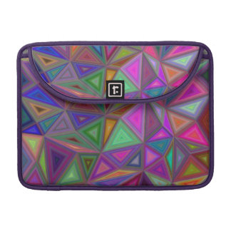 Multicolored chaotic triangles sleeve for MacBook pro