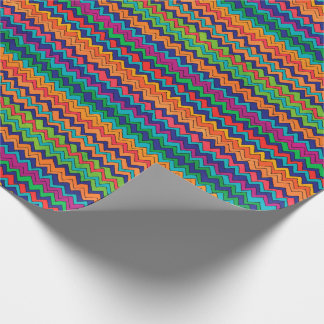 Multicolored Chevron Pattern Wrapping Paper