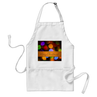 Multicolored Christmas lights. Add text or name. Standard Apron