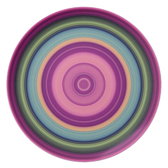 Multicolored Circle Pattern Plate