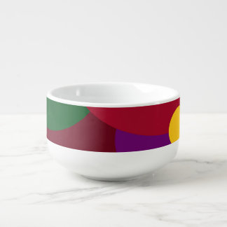Multicolored Circles Soup Mug