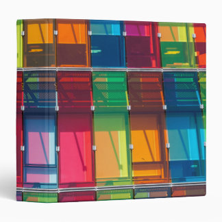 Multicolored commercial building detail binder