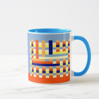 Multicolored cubes mug