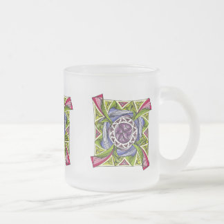 Multicolored cup with abstract Design