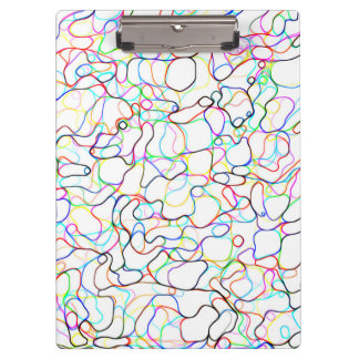 Multicolored Curvy Line Pattern Clipboard