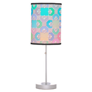 Multicolored Cute Squares Pattern Table Lamp