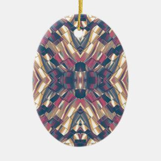 Multicolored Dark Modern Ceramic Ornament