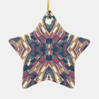 Multicolored Dark Modern Ceramic Ornament