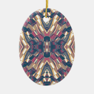 Multicolored Dark Modern Ceramic Oval Ornament