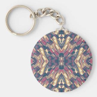 Multicolored Dark Modern Keychain