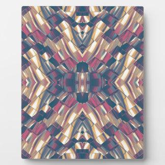 Multicolored Dark Modern Plaque