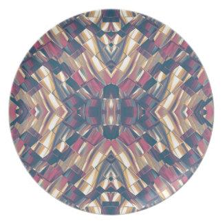 Multicolored Dark Modern Plate