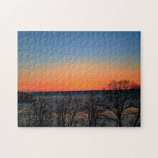 Multicolored Dawn in Rockport, Maine Jigsaw Puzzle