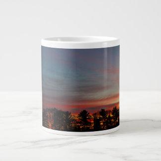 Multicolored Dawn Sky Giant Coffee Mug