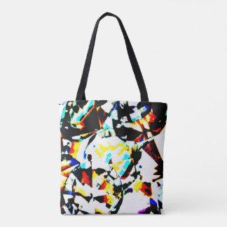 Multicolored Diamond Crystals Cloth Bag