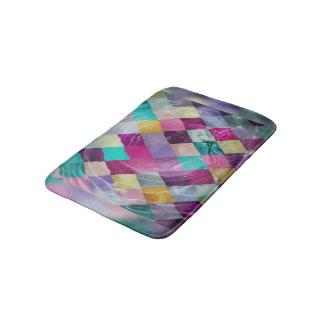 Multicolored Diamonds Bath Mat